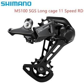 цена на Shimano New Deore M5100 SGS SLX M7000 Shadow + Rear Derailleur 11 Speed Mountain Bike Bicycle Derailleur MTB Original Bike Parts