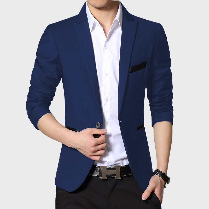 New Arrival High Quality Men Suit Single Button Leisure Blazers Jacket Men Men's  Korean Fashion Slim Fit Casual Blazer Suits