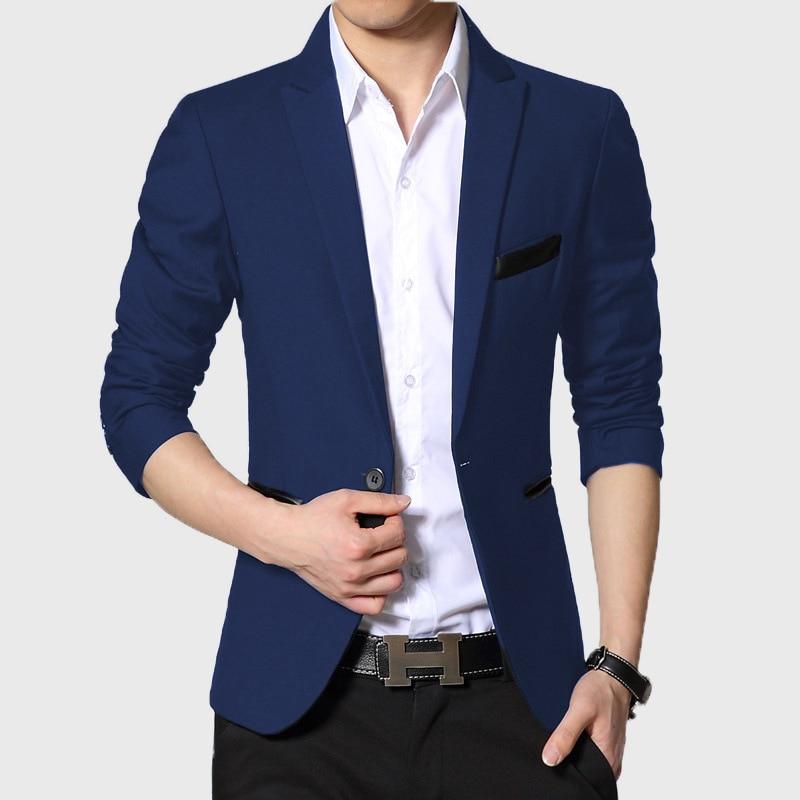 New Arrival High Quality Men Suit Single Button Leisure Blazers Jacket Men Men's  Korean Fashion Slim Fit Casual Blazer Suits