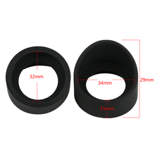 2Pcs/Set 34mm Diameter Rubber Eyepiece Cover Guards For Bino