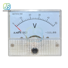 DC 30V 50V Analog Panel Volt Voltage Meter Voltmeter Gauge 85C1 30V 50V Mechanical Voltage Meters цена