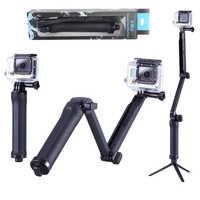 For Go Pro 3 Way Tripod Grip Waterproof Monopod Selfie Stick Stand for GoPro Accessory Hero 7 6 5 4 Session for Yi 4K Sjcam Eken