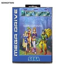 창세기 megadrive 용 sega mega drive 용 상자가있는 16 비트 md 메모리 카드 brave battle saga magic warrior의 전설