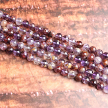 Purple ghost Natural Stone Beads Loose Stone Beads For Jewelry Making DIY Bracelets Necklace Accessories 4/ 6/8/10mm