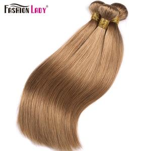 Image 4 - Fashion Lady Pre Colored Brazilian Straight Hair Extension Human Hair #27 Blonde Bundle Deals 3/4 Bundle Per Pack Non Remy
