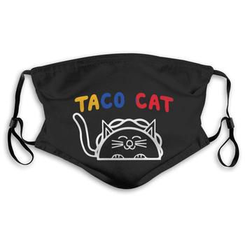 Taco CAT Armenia Flag Mouth Cover Mask with PM2.5 Filters 5 Layers of Protection for Unisex Black недорого