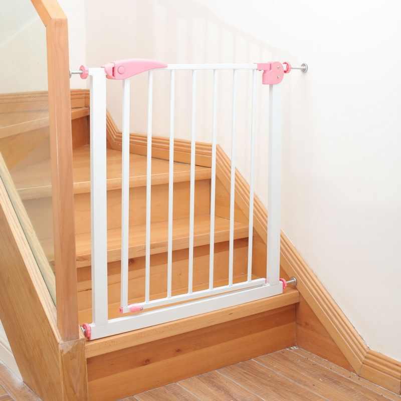 Puerta De Seguridad Para Niños Protección Para Bebés Escaleras Valla Para Puerta De Seguridad Para Niños Mascotas Perro Valla Aislante Producto Portones Y Puertas Aliexpress