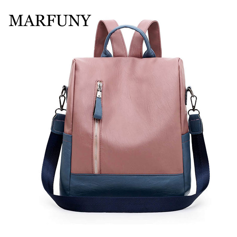 2019 New Ladies Multifunction Backpack High Quality Youth Color Anti-theft Backpack Girl Casual Large Capacity Bags For Women