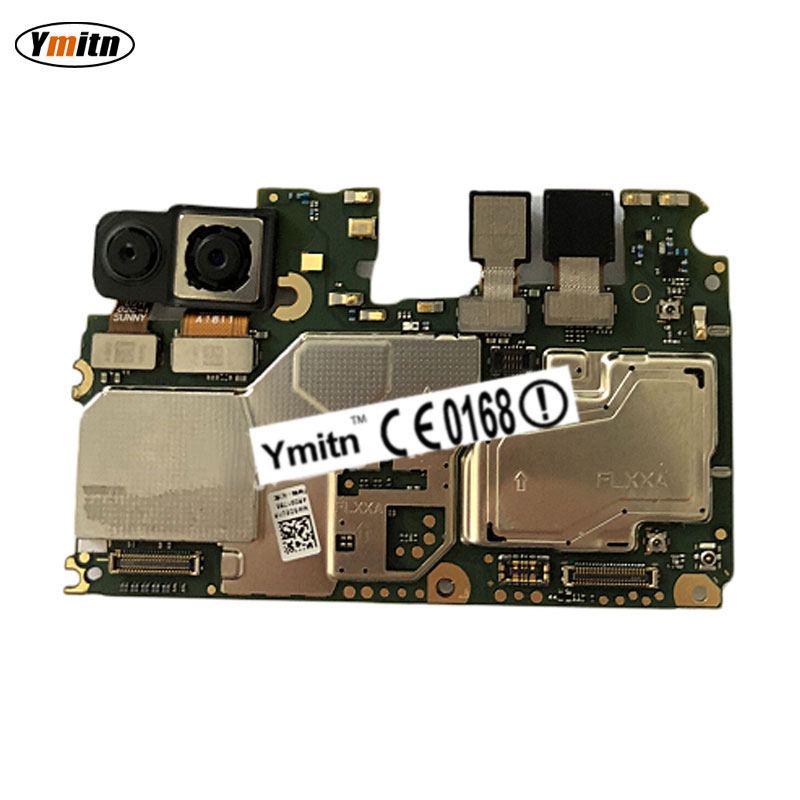 Ymitn Mobile Electronic Panel Mainboard Motherboard Unlocked with Chips Circuits Flex Cable For Huawei Y9 2018 FLA-AL10 LX1 LX2