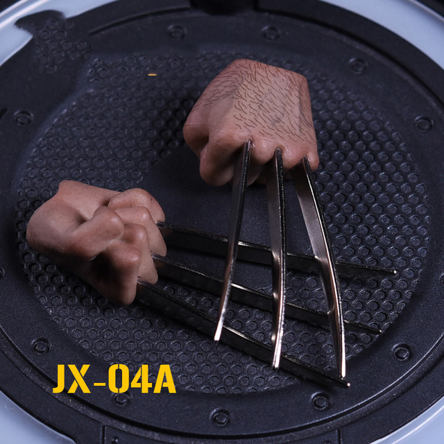 16 Scale Blood Stains/Normal Wolverine Fist Claw Hand type Action Figure Accessories for 12  Male HT Figure