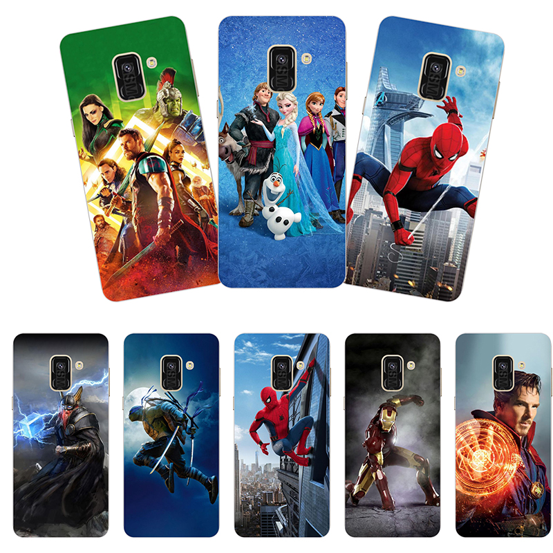 hard plastic Phone Cases For <font><b>Samsung</b></font> Galaxy A8 2018 SM-<font><b>A530F</b></font>/SM-A530N/SM-A530W Phone Case Back <font><b>Cover</b></font> Print painting Flower style image