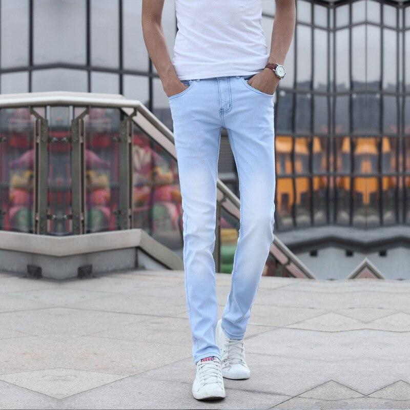 MEN'S Jeans 2018 Korean-style Autumn And Winter Men's Skinny Medium Waist Washing Faded Elasticity Jeans MEN'S Long Trousers