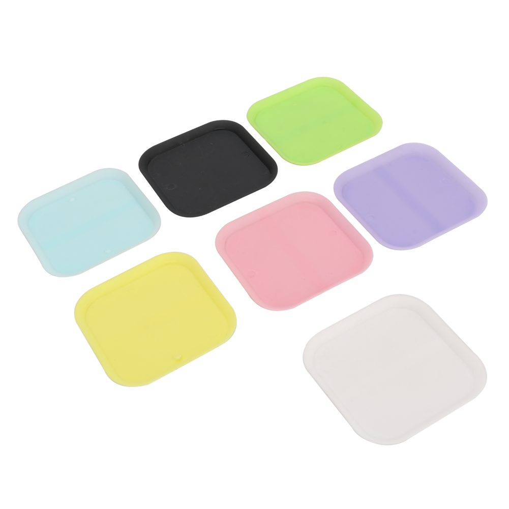 Plastic 6cm Plant Flower Pot Square Trays Colorful Potted Chassis Tray Garden Balcony Office Succulents Square Base Plates 2 Pcs
