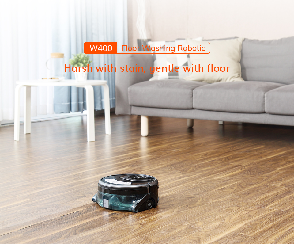 ILIFE New W400 Floor Washing Robot Shinebot Navigation Large Water Tank Kitchen Cleaning Planned Cleaning Route disinfection