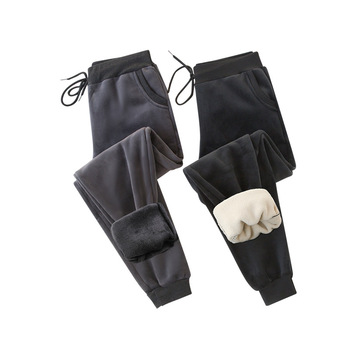 Womens Trousers Super Soft Sports Pants Autumn Winter Joggers Women Plush Thickened Cotton Pant Casual Loose Legged