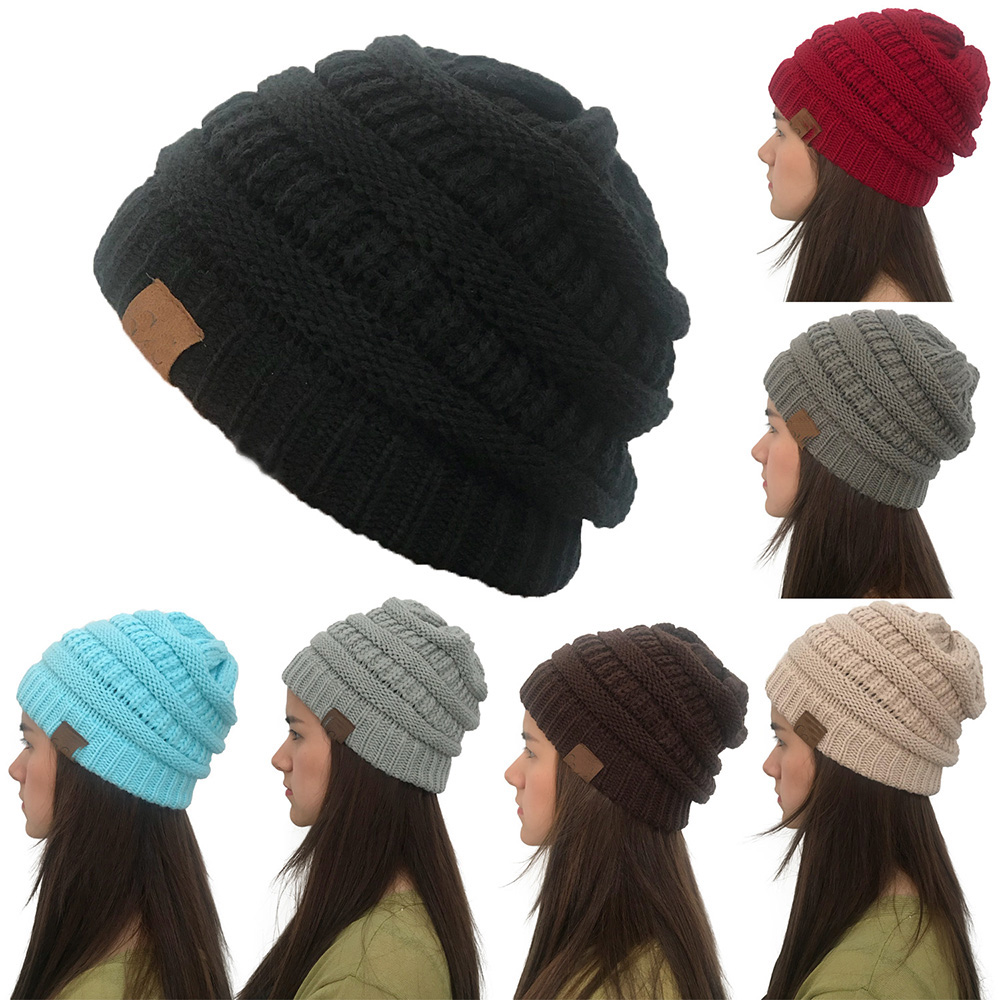 Autumn Winter Hat Women Skullies Cc Beanies Solid Color Knitted Female Hat Beanie For Girls Cap Soft Warm Hats Ladies Bonnet