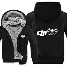 Dji Mavic Pilot Hoodies Erkekler Kalınlaşmak Kış Ceket Komik erkek Giyim DJI Tişörtü Kazak