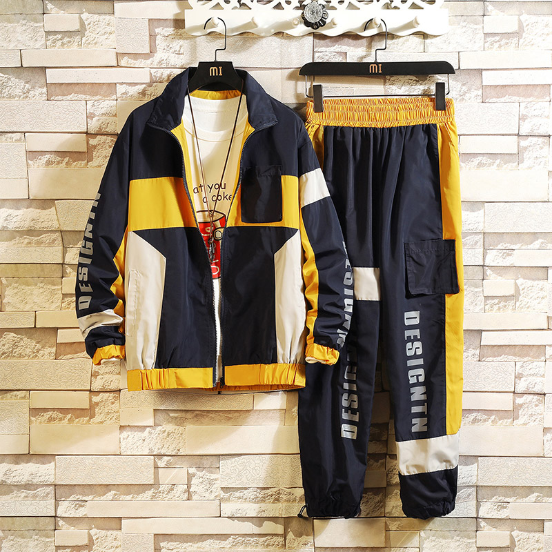 Fashion Mens Sportswear Fashion Tracksuit 2019 New Two Pieces Set Suits For Spring Autumn