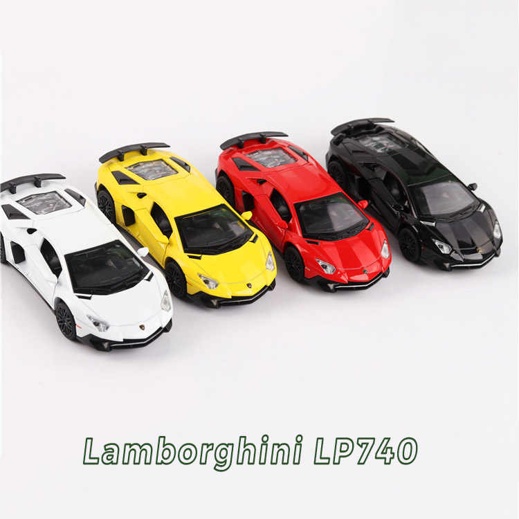 1:32 Alloy Die-casting Back Force Children's Toy Car Super Sports Car LP740 Sound And Light Decoration Model