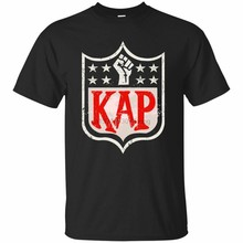 Kaepernick futbol oyuncu siyah lacivert Colin KAP klasik T-Shirt gömlek Im ile