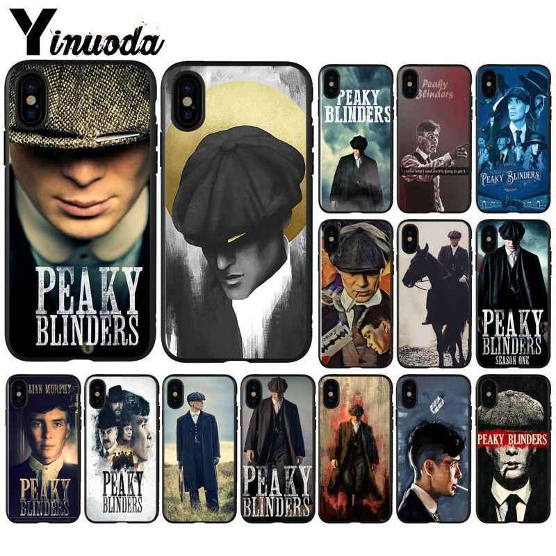 Yinuoda Peaky Blinders TV serisi siyah TPU yumuşak silikon telefon kılıfı kapak iPhone X XS MAX 6 6S 7 7 artı 8 8 artı 5 5S XR