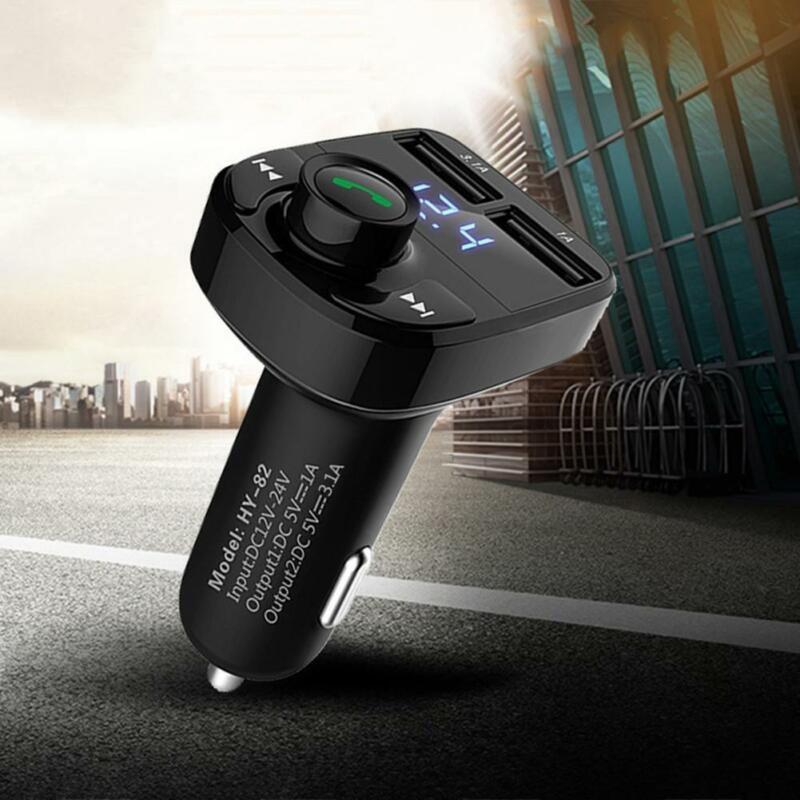 Bluetooth Car Audio FM Transmitter Wireless Radio Player MP3 Bluetooth Player Dual USB Car Audio MP3 Player