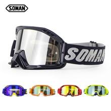 Motocross-Goggles Casco Tear-Off-Films SOMAN Glasses Gafas Dirt-Bike with Helmet Oculos