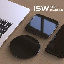 15 Вт QC 3,0 беспроводное быстрое зарядное устройство usb c QI Быстрая зарядка для iphone x samsung s9 Android