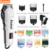 Tagliacapelli professionale Kemei per uomo tagliacapelli elettrico tagliacapelli Cordless Display LCD taglio di capelli ricaricabile