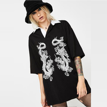 Gothic Women T-shirt 2019 Half Sleeve Solid V-neck Fashion D