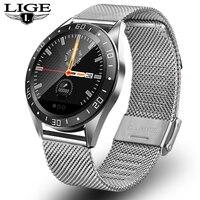 Lige 2019 novos esportes smartwatch homens relógio inteligente ip67 à prova dip67 água rastreador de fitness freqüência cardíaca pressão arterial monitor sono relógios