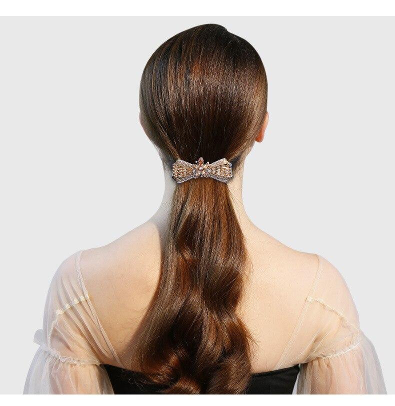 Fashion Femmes Cristal Pince à Cheveux Fleur épingle à cheveux Clip Queue De Cheval Cheveux Accessoires