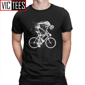 Ride Like Hell Skeleton Skull Bike Cycle T-Shirt 100% Cotton Tees for Men Short Sleeves T Shirts Vintage Amazing Round Neck