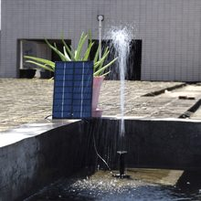 Комплект водяного насоса на солнечной батарее, 9 В, 1,8 Вт, плавающий водяной фонтан на солнечной батарее для птичьей ванны, пруда, садового во...