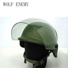 2 farben Airsoft Tactical Armee SWAT M88 Helm USMC Schießen Klassische Schutz PASGT Helm Schwarz/OD mit Klarem Visier