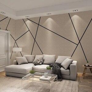 Черная линия Diatom-ooze текстура, 3d геометрические обои, роспись для гостиной, Геометрическая настенная наклейка, художественный декор, 3d насте...