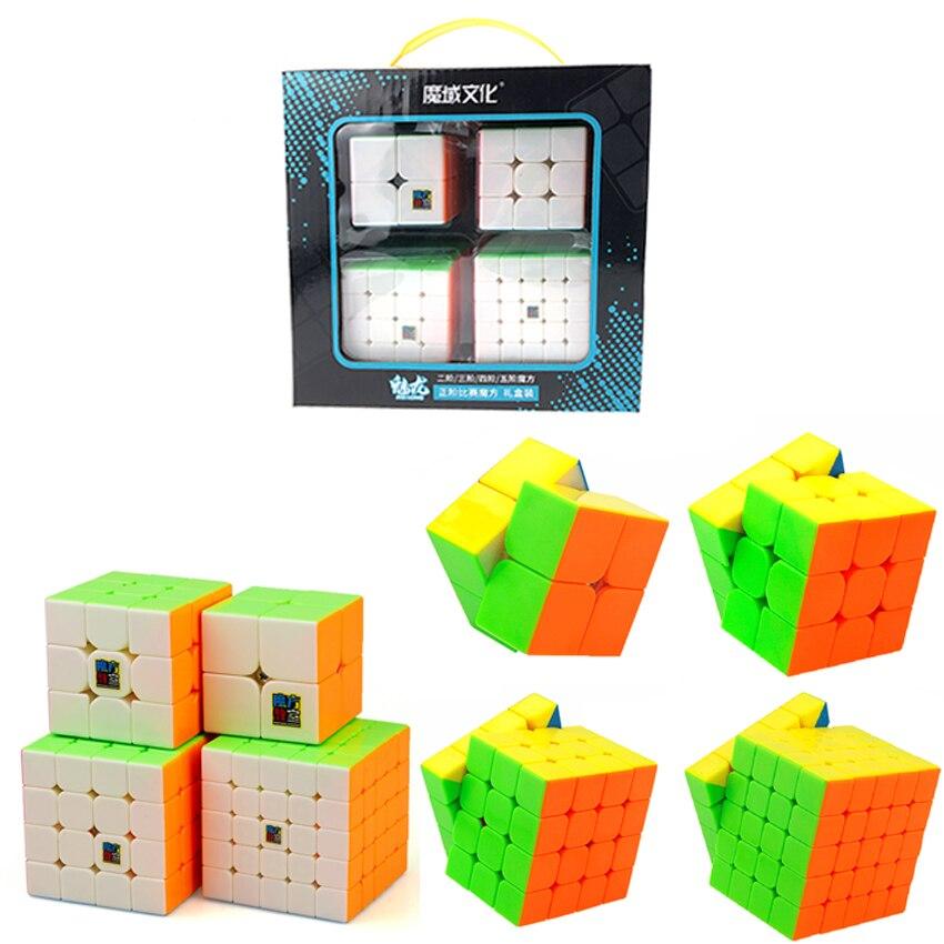 QIYI 2x2 3x3x3 4x4x4 5x5x5 Set Magic Speed Cube Sticker Less Professional 2x2 3x3x3 4x4x4 5x5x5 Layer Game Puzzle Cube Children'