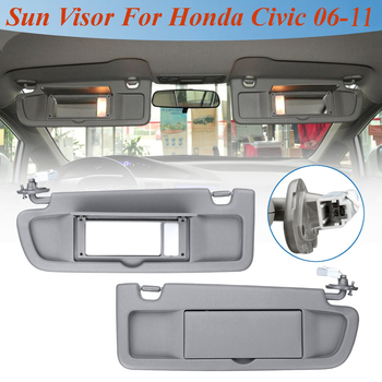 Car LHD Sunvisor Sunshade 1 Pcs Sun Shield Antidazzle Visor With Lamp Styling For Honda for Civic for Coupe Sedan 2006 2007-2011