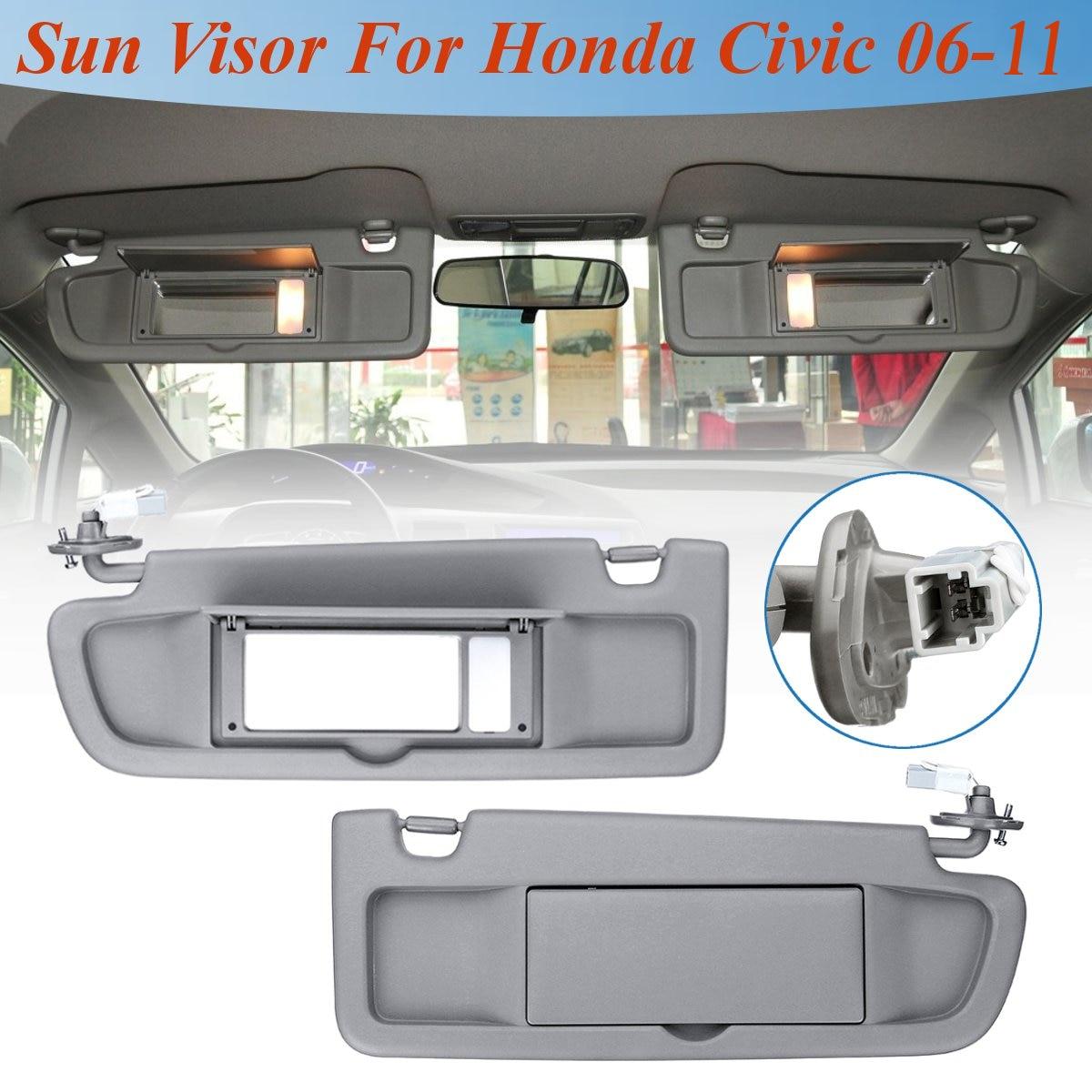 Carro lhd sunvisor pára-sol 1 pçs protetor solar viseira antidazzle com estilo da lâmpada para honda civic para coupe sedan 2006 2007-2011