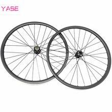 YASE 29er juego de ruedas mtb de carbono 35x25mm sin cámara aro 29 mtb asimetría boost NOVATEC D791SB D792SB 110x15 148x12 ruedas de disco de bicicleta