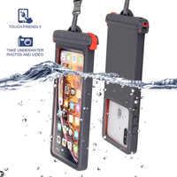 Queshark Anti-falling Waterproof Mobile phone bag Swimming Phone Case Holder Underwater Seal Snowproof Touch Bag Below 6.9inch