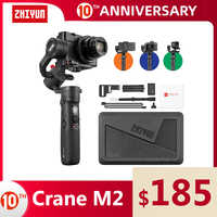 ZHIYUN Official Crane M2 3-Axis Gimbals for Action Mirrorless Compact Cameras Smartphones Samsung S8 iPhone 11 Stabilizer