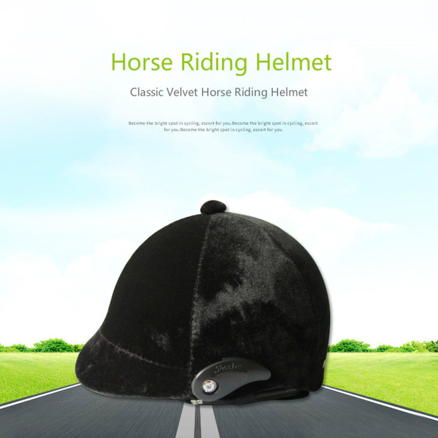Horse Riding Helmet Classic Velvet Safety Cap Adults and Children Cheval Equestrian Horse Riding Racing Equipment Four Seasons 1