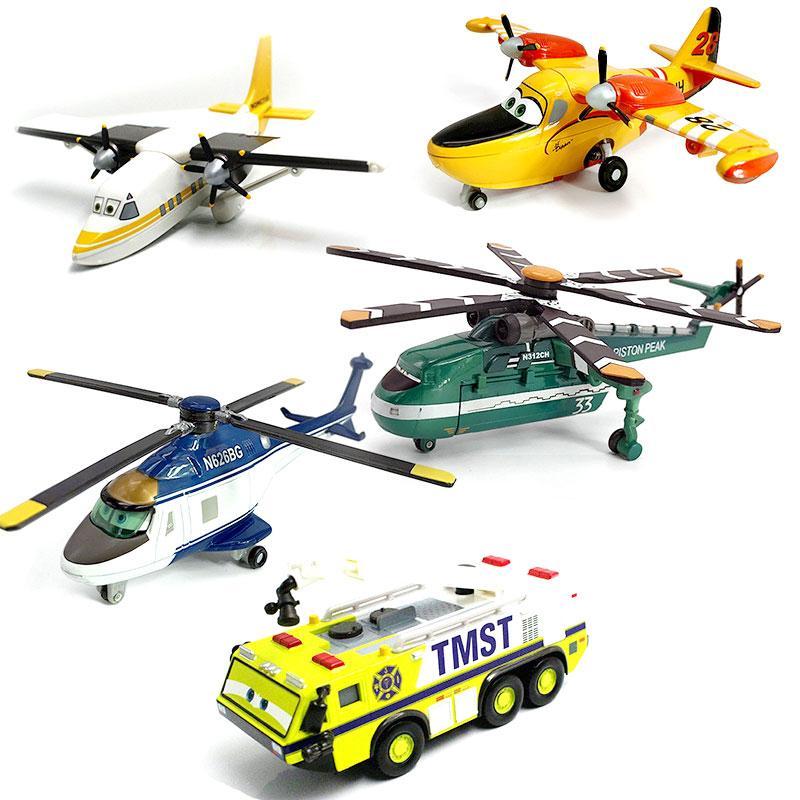 Disney Pixar Cars 2 Planes Strut Jetstream Dusty D7 Metal Diecast Alloy Classic Toy Plane Model Toys For Children 1:55 In Stock