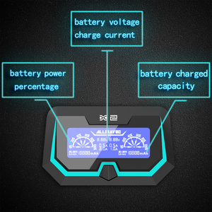 Image 5 - XTAR X2 LCD şarj hızlı şarj iki giriş bağlantı noktası şarj 3.6 V/3.7 V Li ion/IMR/ INR/ICR, 1.2V Ni MH/ni cd AAA AA pil şarj cihazı