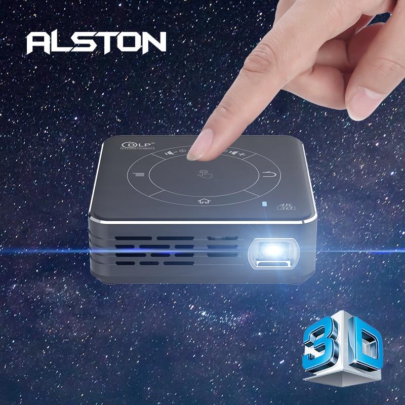Alston c99 mini dlp android projetor wifi bluetooth 5.0 portátil led projetor de vídeo cinema em casa apoio miracast airplay-0