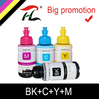 HTL 4PK 70ml 염료 잉크 epson L200 L210 L222 L100 L110 L120 L132 L550 L555 L300 L355 L362 프린터 잉크