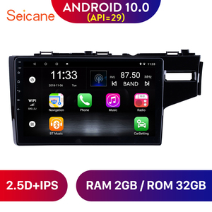 Image 1 - Seicane 10.1 Inch Quad core Android 10.0 Car Radio GPS Navigation Stereo Multimedia Player for 2014 2015 HONDA JAZZ/FIT (RHD)