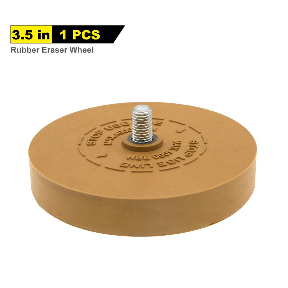 3.5inch 88mm Rubber Grinding Wheel Rubber Wheel Pneumatic Solid Rubber Wheel Automobile Paint Polishing Rubber Wheel