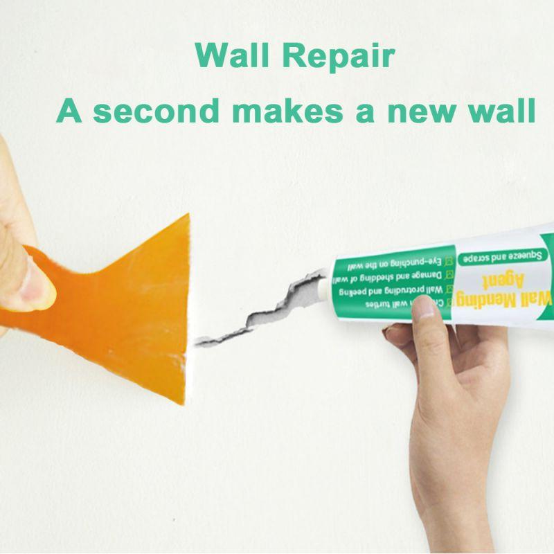 30g Wall Mending Agent Wall Repair Cream Wall Crack Nail Repair Agent Walls Peeling Graffiti Gap Repair Paste With Scraper